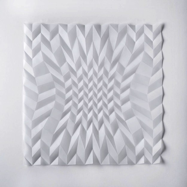 Experiment in Drawn and Folded Form Number 1, 48 x 48 x 2cm, 2015