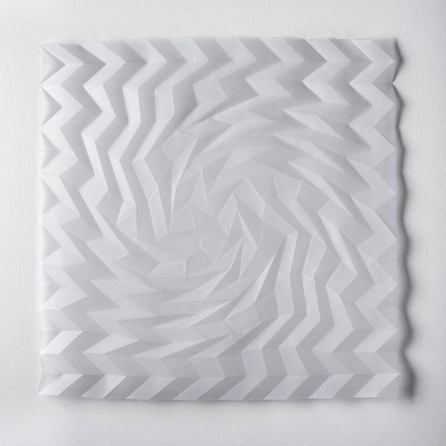 Experiment in Drawn and Folded Form Number 3, 48 x 48 x 2cm, 2015