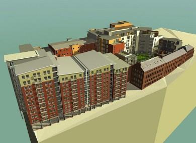 Impact development Sheffield showing adjacent scheme interface