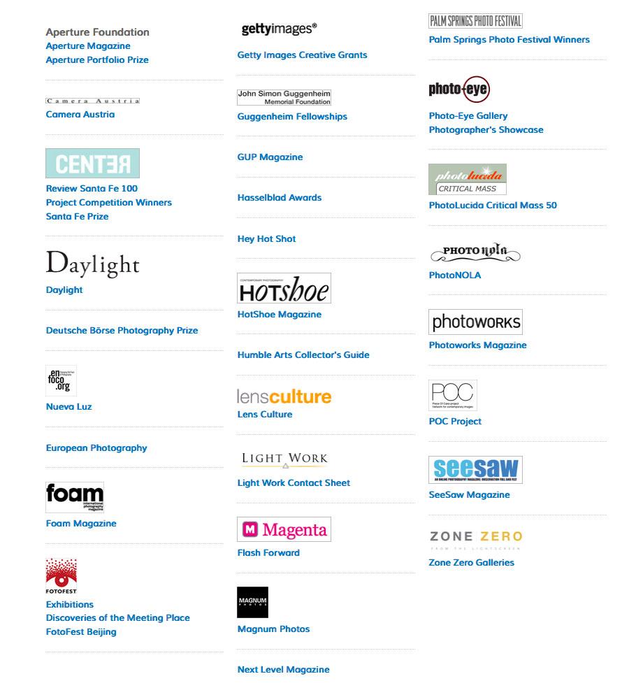 art photo index linked organizations