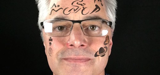 Image of Tony Farley with personal tattoos all over