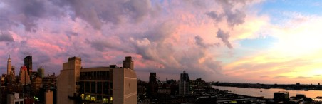 ESB with Pink Sky Panoramic
