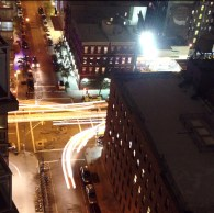 Night Lights Street Traffic