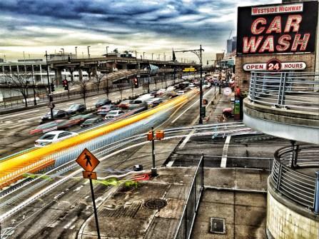 Westside Highway & Car Wash Long Exposure #1