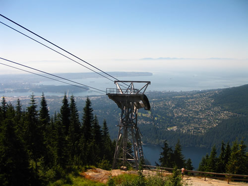The view from Grouse Mountain