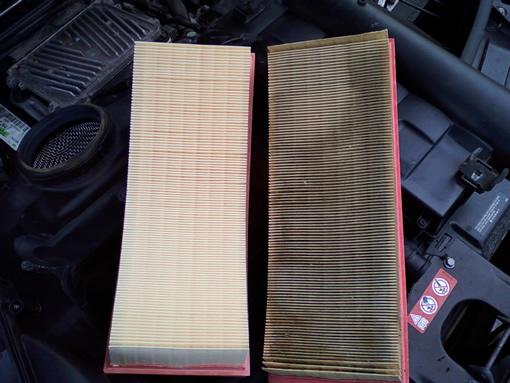 Old filter (right) vs. new filter (left)