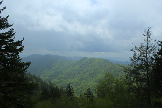 The view of the Smokies at the Newfound Gap