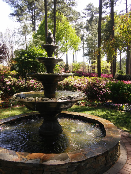 WRAL Azalea Garden fountain