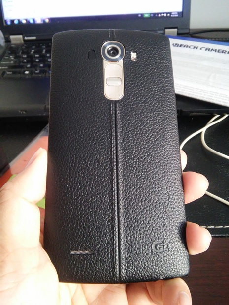LG G4 black leather
