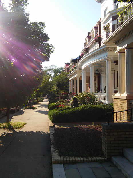 Monument Ave houses