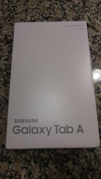 Samsung Galaxy Tab A 10.1 box
