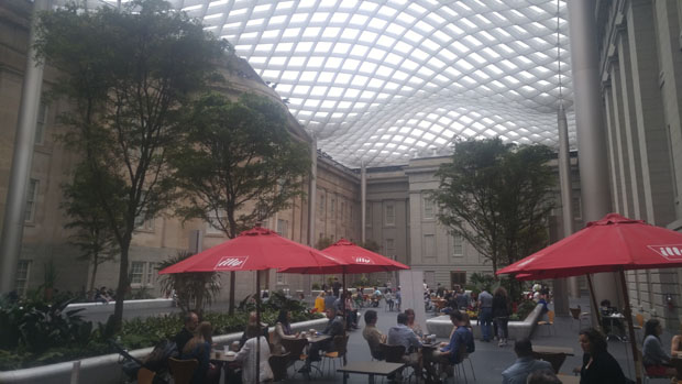 Smithsonian Museum of American Art and National Portrait Gallery courtyard