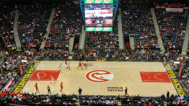 Atlanta Hawks vs New York Knicks at Phillips Arena