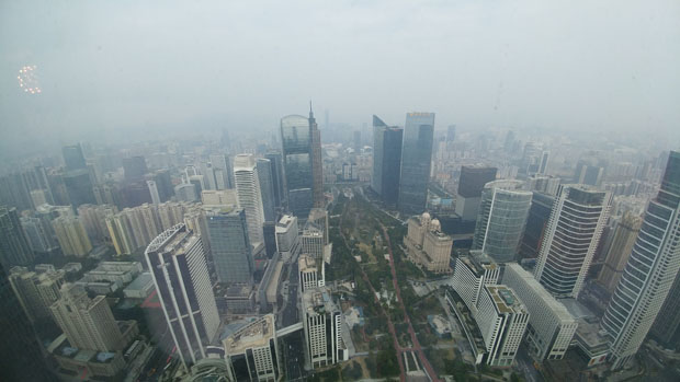 Guangzhou elevated view
