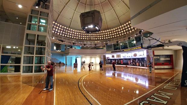 Naismith Basketball Hall of Fame court
