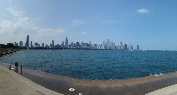 Chicago city view pano