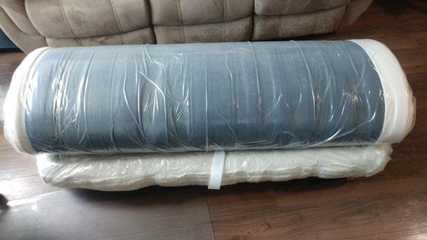 mattress rolled up