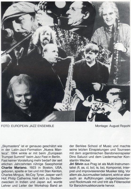 A Trane International Jazz Club Berlin Germany Ronnie Burrage