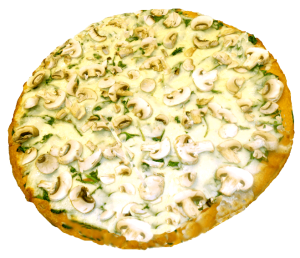 Stuft Spinich Mushroom Pizza