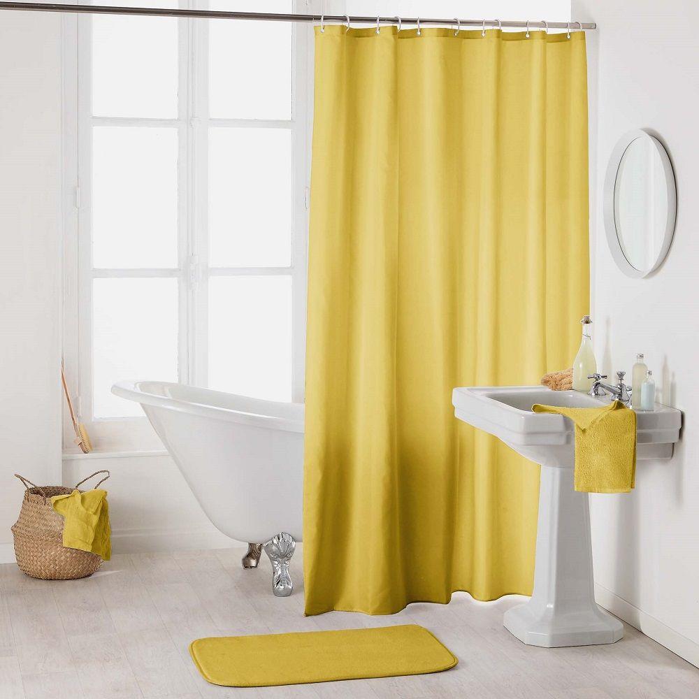 essencia plain shower curtain with