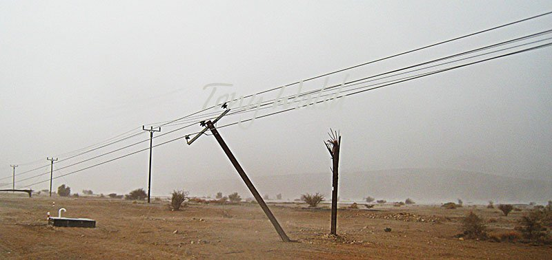 Broken Electricity Poles near Nizwa