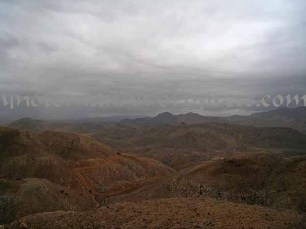 rain clouds gather near Muscat