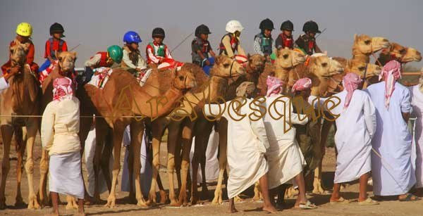 Authentically Omani Bedu Jockeys