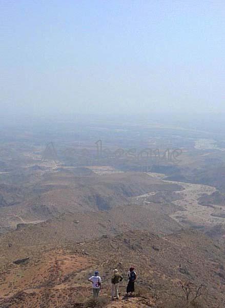 Walk in mountains near Salalah