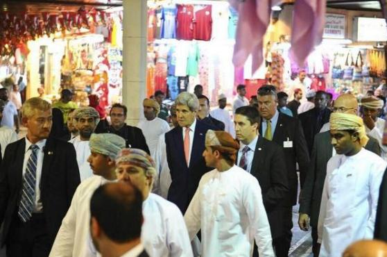 John Kerry doing some early Christmas shopping in Mutrah Souq