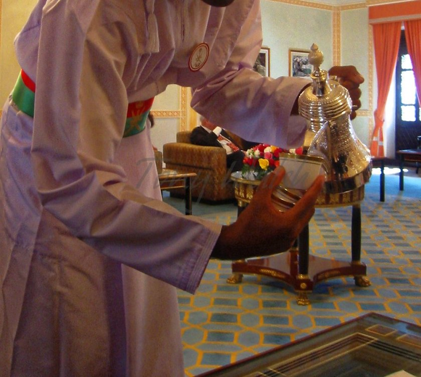 Omani Coffee being served