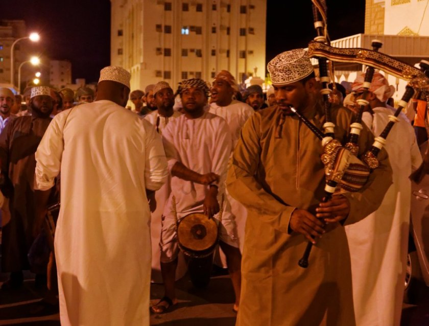 Wedding celebration in Muscat Bagpipes and Band