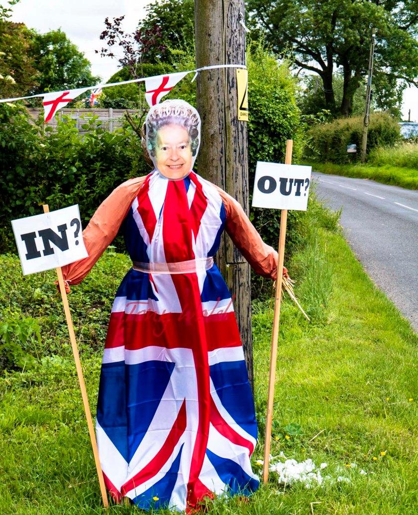 Queen Elizabeth lookalike considers the two options