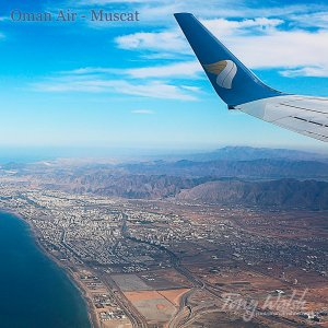 Oman Air over Muscat