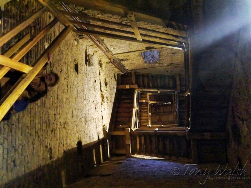 Interior of Asinelli Tower