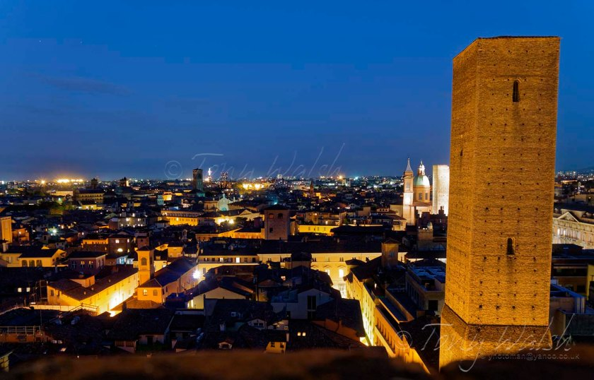 View of Bologna from San Pietro bell tower