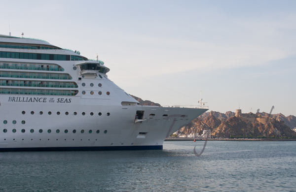 Brilliance of the Seas enters Mina Qaboos