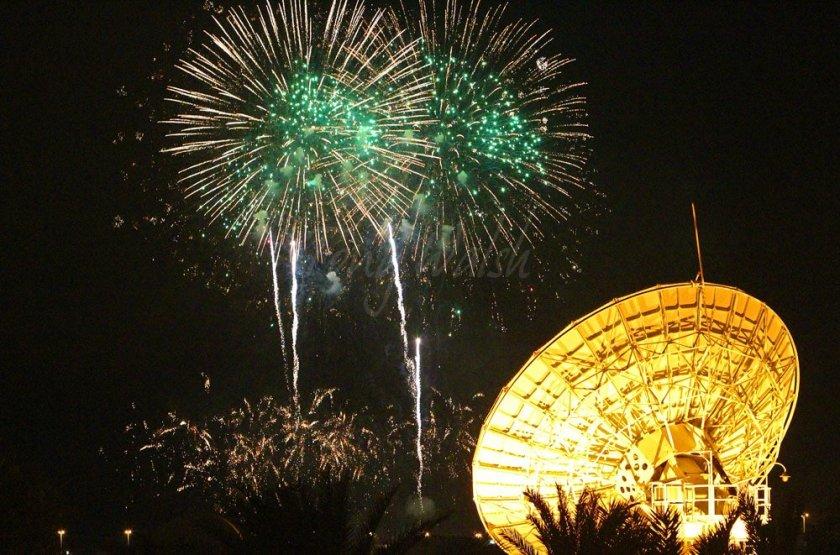 Fireworks in Al Amarat Oman