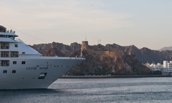 Silver Wind enters Muscat Port
