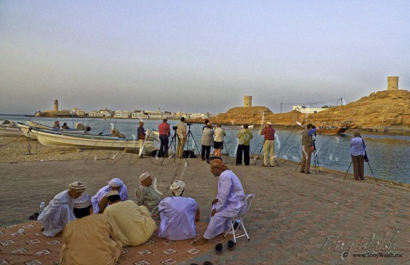 Tourists at Sur Oman