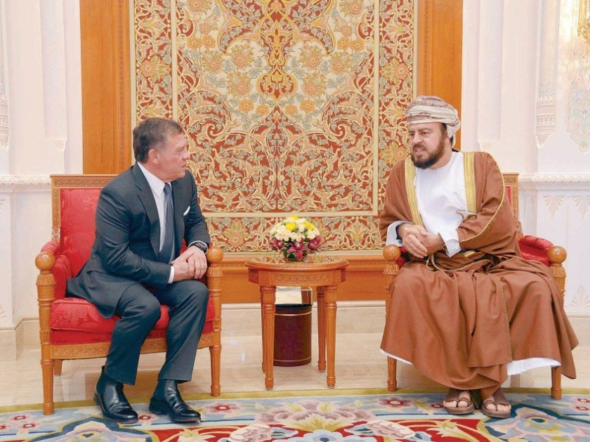 King Abdullah was met by HH Sayyid Asaad bin Tariq al Said