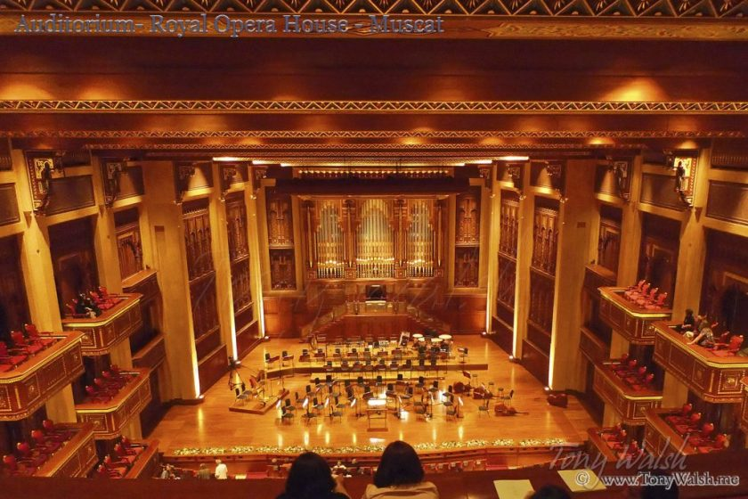Auditorium- Royal Opera House - Muscat