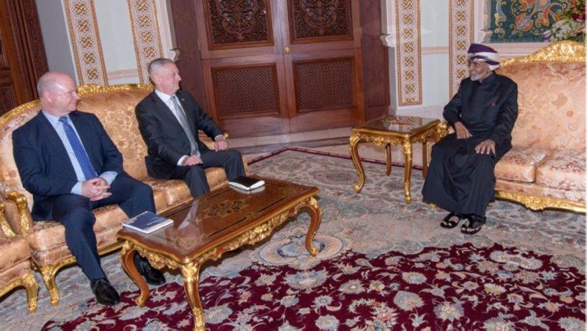 Sultan Qaboos and James Mattis