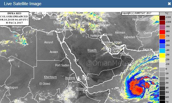 Cyclone Luban Screenshot from www.met.gov.om