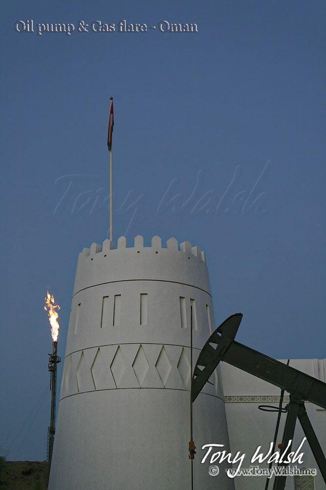 Oil pump & Gas flare - Oman
