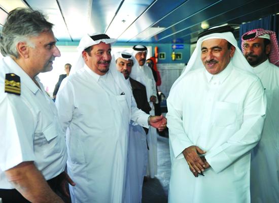 Grand Ferry Faisal Mohamed AlSualiti and MinisterJassim bin Saif Al Sulaiti via Gulf Times