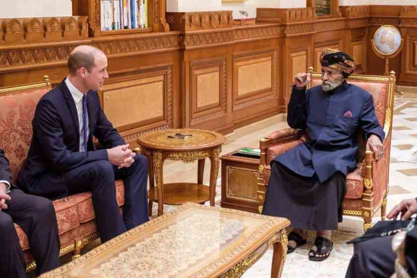 Sultan Qaboos meets Prince William