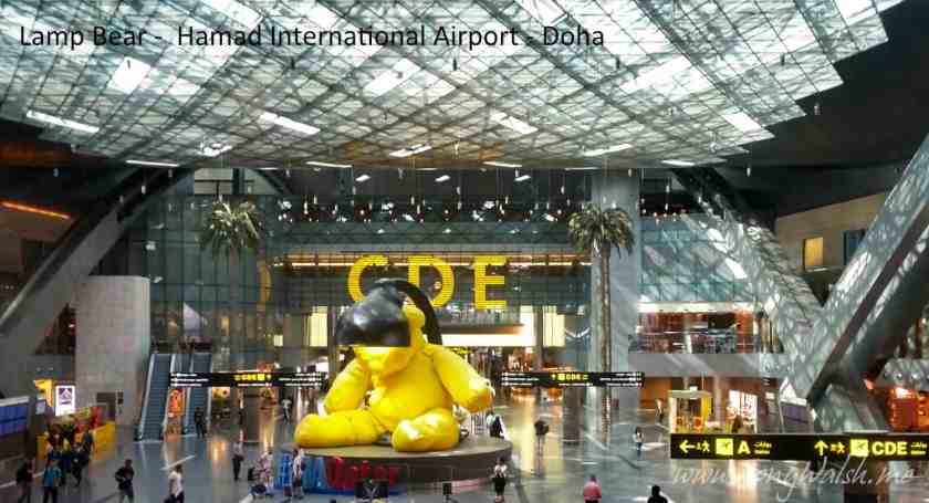 Lamp Bear - Hamad International Airport - Doha