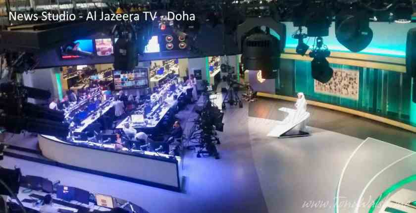 News Studio - Al Jazeera TV - Doha