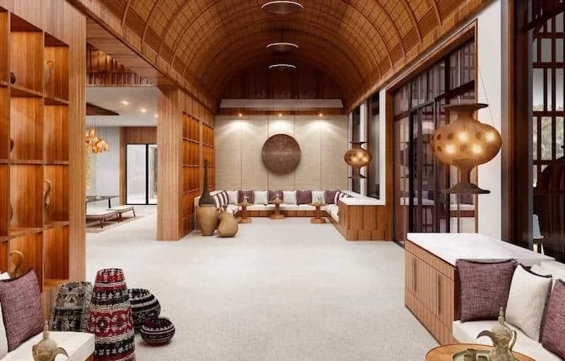 Alila Hinu Bay lobby lounge