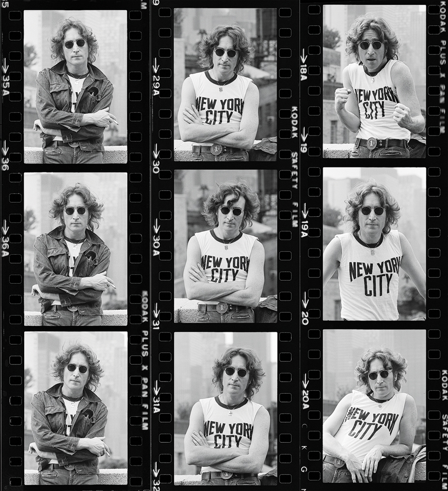 John Lennon by Bob Gruen. New York, 1974.